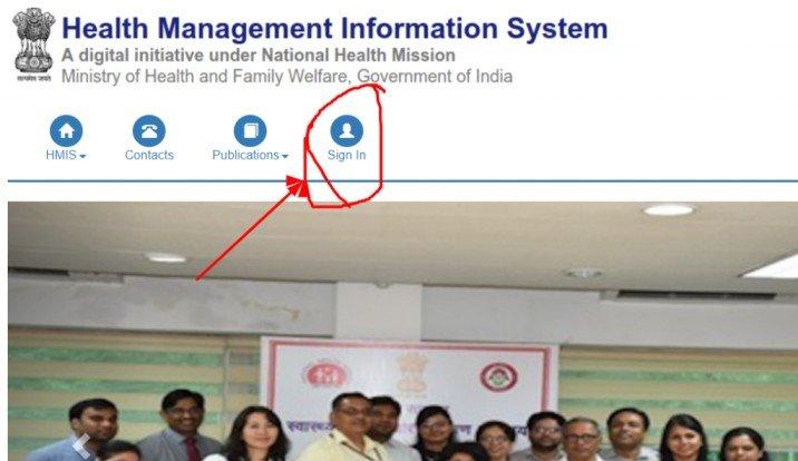 HMIS Login-Health Management Information System Data entry @hmis.nhp.gov.in login
